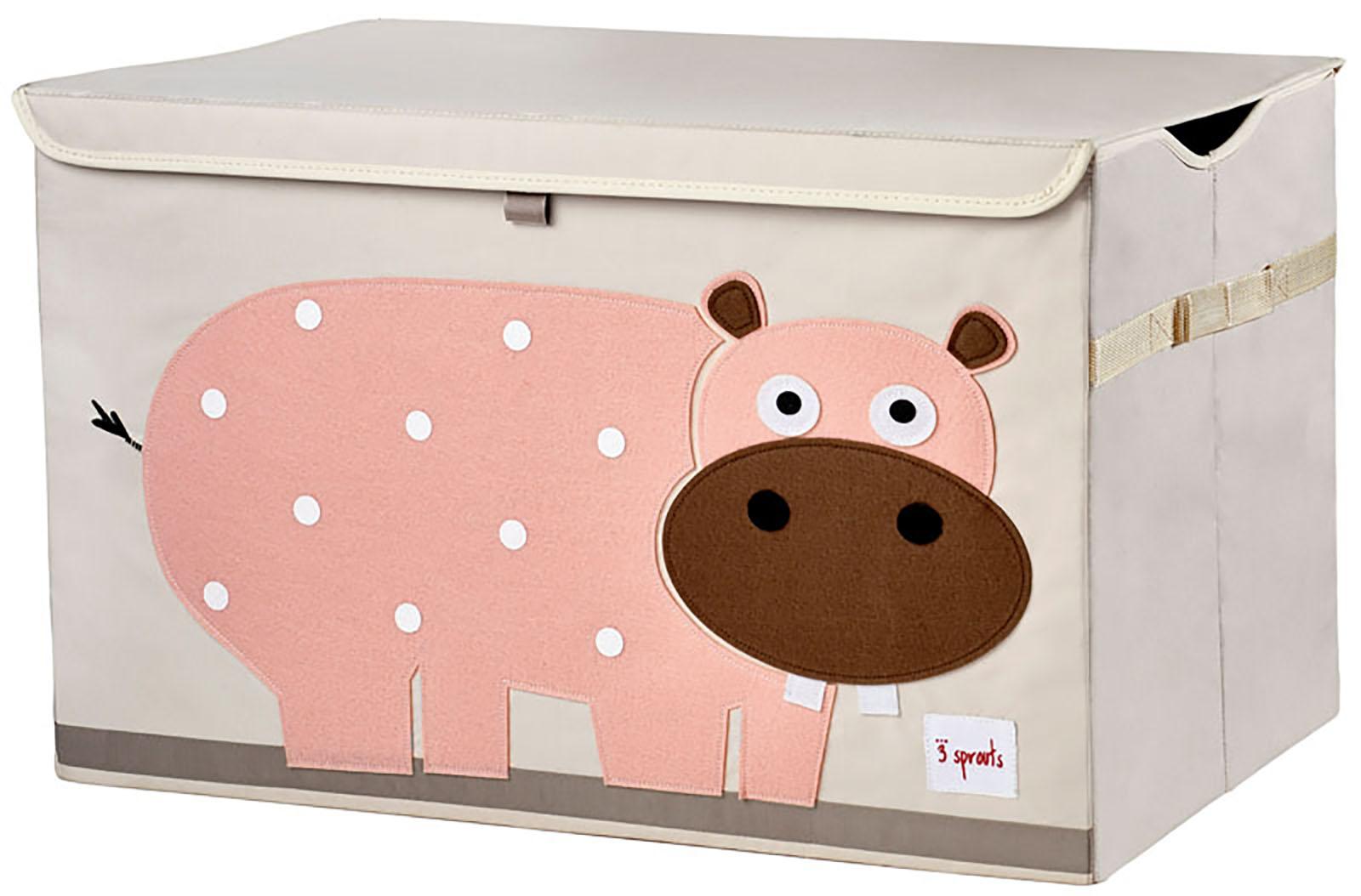 3 sprouts aufbewahrungskiste aufbewahrungstruhe mit deckel hippo nilpferd. Black Bedroom Furniture Sets. Home Design Ideas