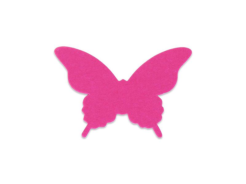 Elfenstall 3D Papier Wandsticker Schmetterling 20 Stück Farbe Schwarz