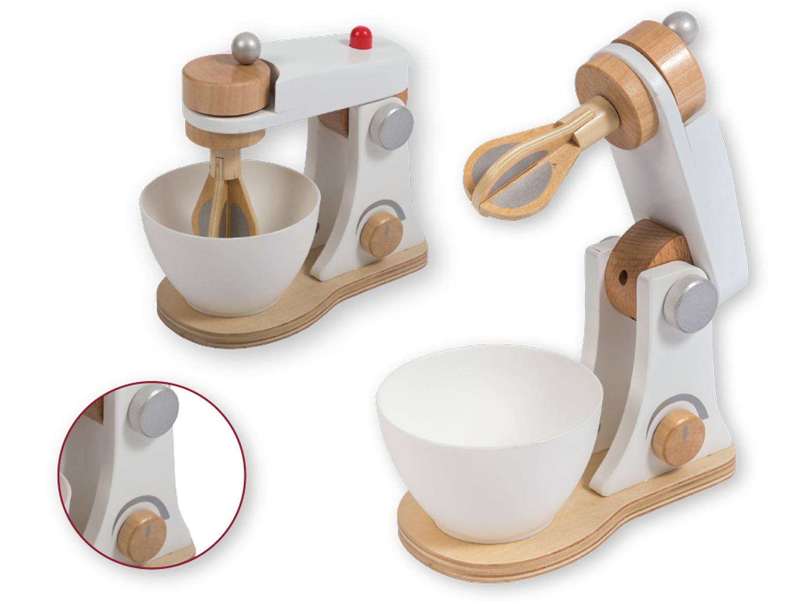 Jouéco Kinder Küchenmaschine Teigmaschine Mixer Für Die Spielküche Aus Holz
