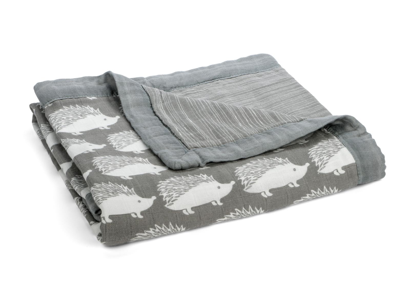 milkbarn big lovey baby kuscheldecke babydecke 90 x 90 cm igel grau. Black Bedroom Furniture Sets. Home Design Ideas