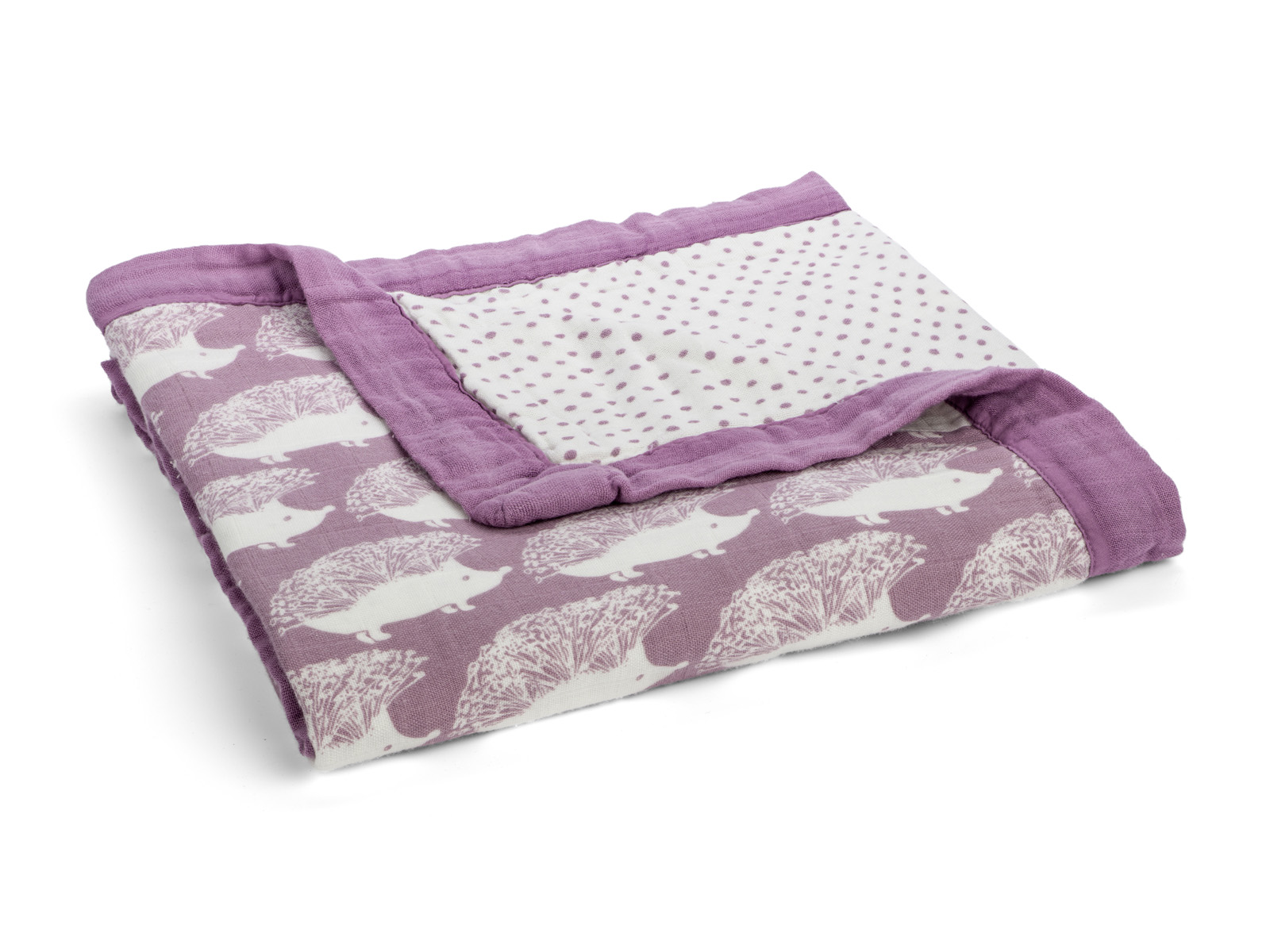 milkbarn big lovey baby kuscheldecke babydecke 90 x 90 cm igel lila. Black Bedroom Furniture Sets. Home Design Ideas