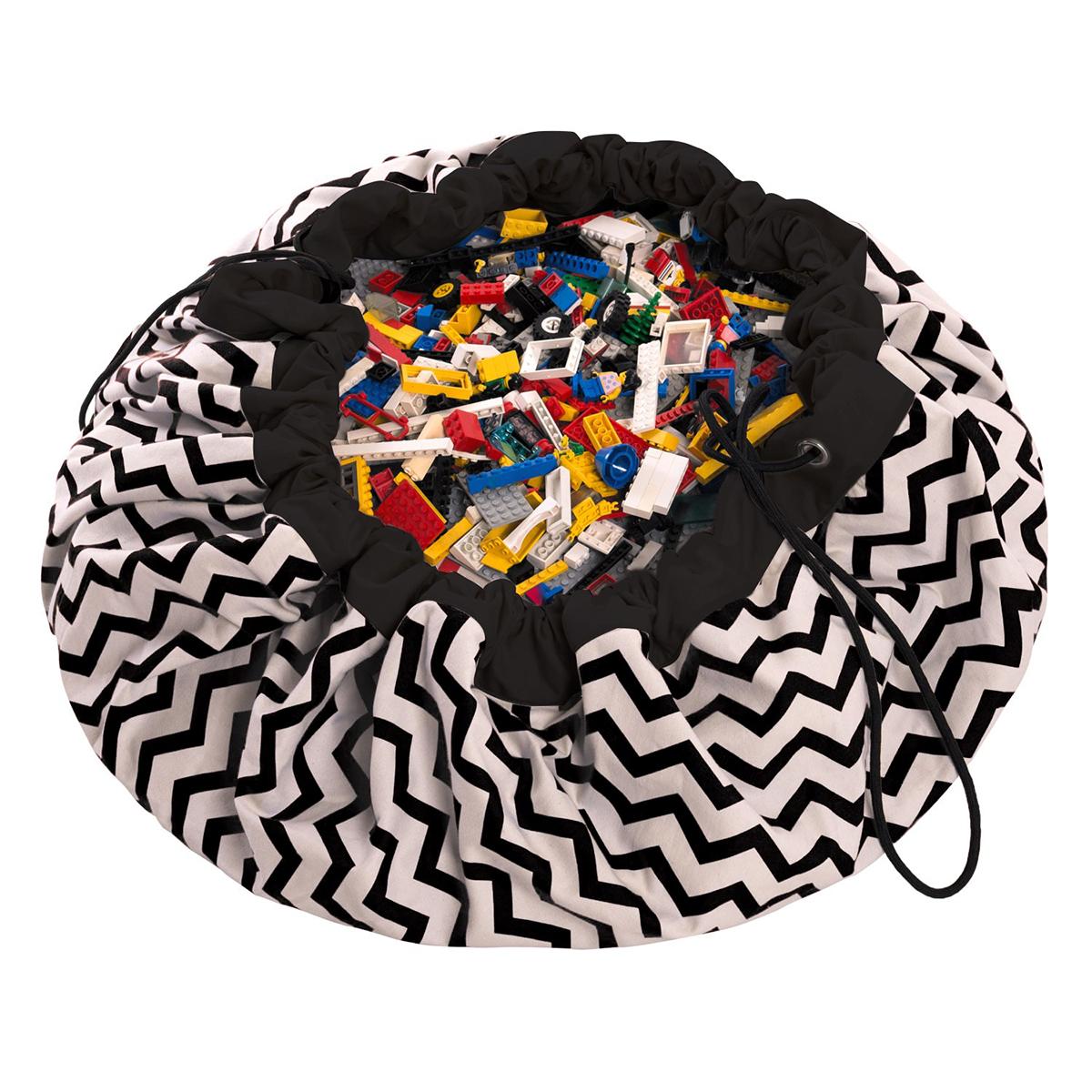 play go spielzeug sack und spiel decke zig zag black. Black Bedroom Furniture Sets. Home Design Ideas