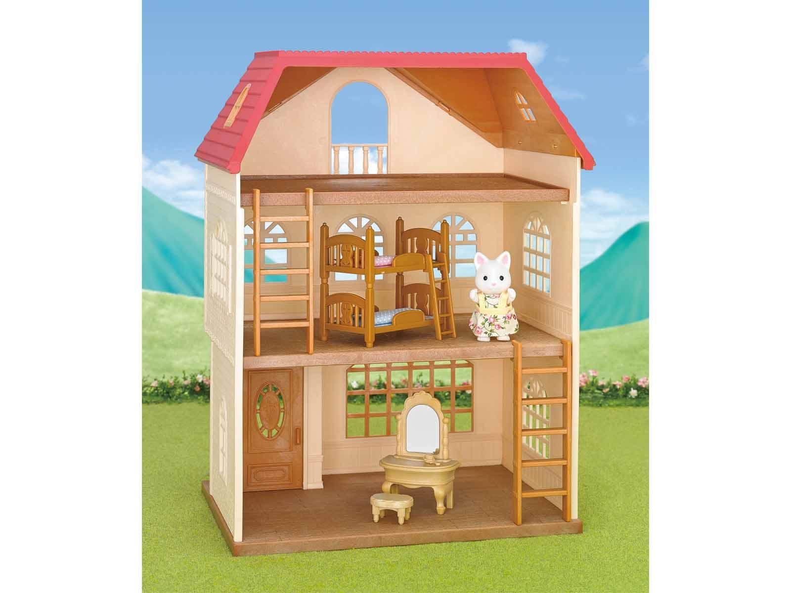 Sylvanian Families 2738 3 Stöckiges Haus mit Figur und