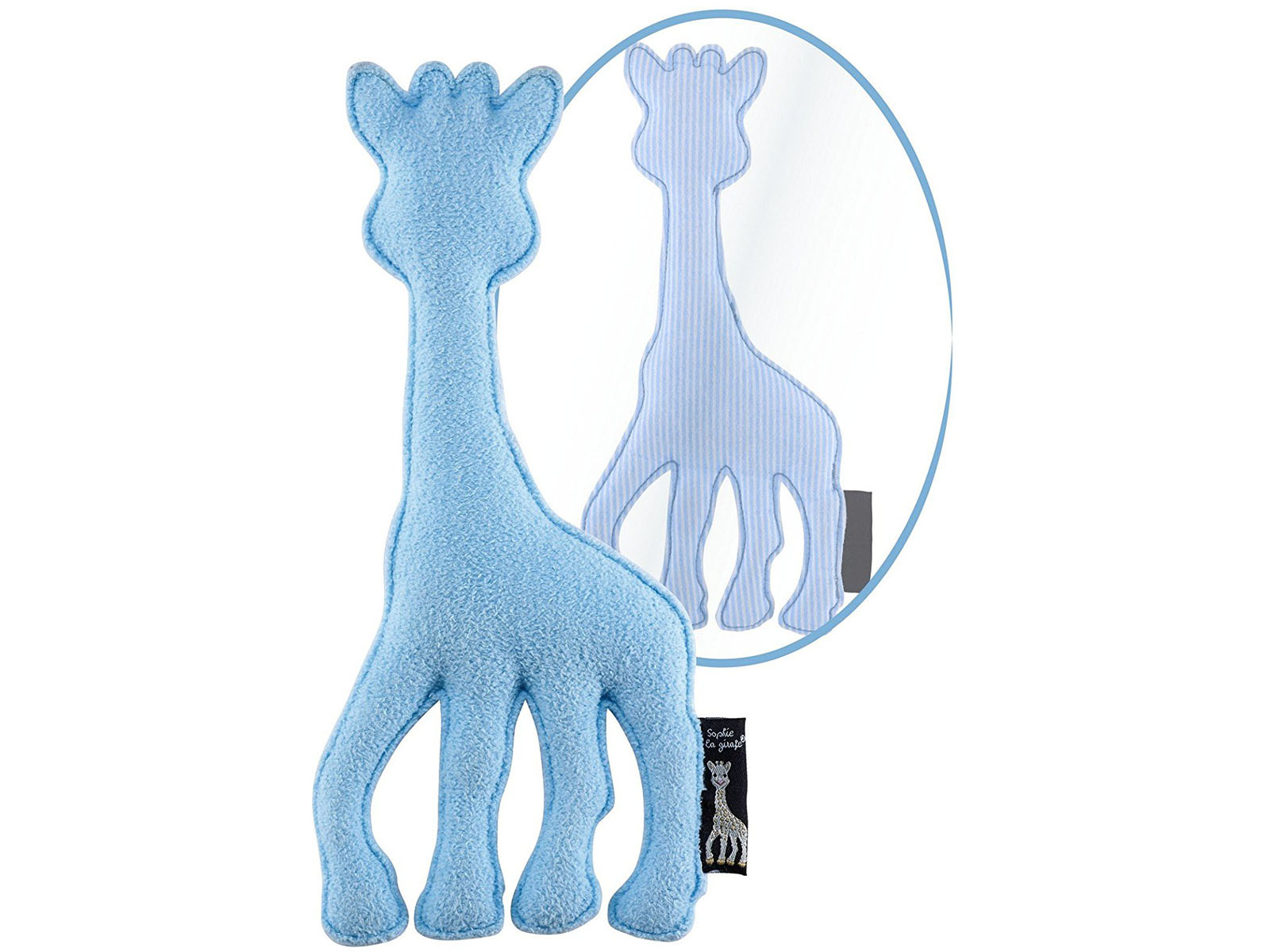 lovely vulli sophie la girafe giraffe baby pl schtier farbe blau. Black Bedroom Furniture Sets. Home Design Ideas